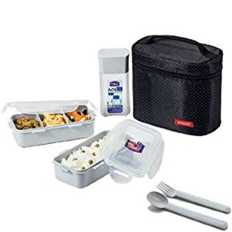 Top Seller Lunch Box Kotak Makan Bento Box Tempat Makan Sekat 4 microwavable airtight 4 cup bento lunch box set bpa free water bottle spoon and