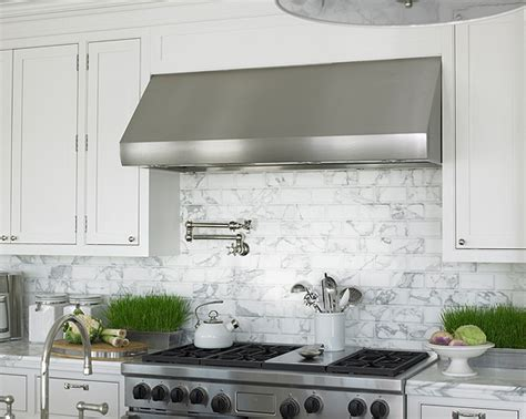 marble subway tile kitchen backsplash marble backsplash design ideas