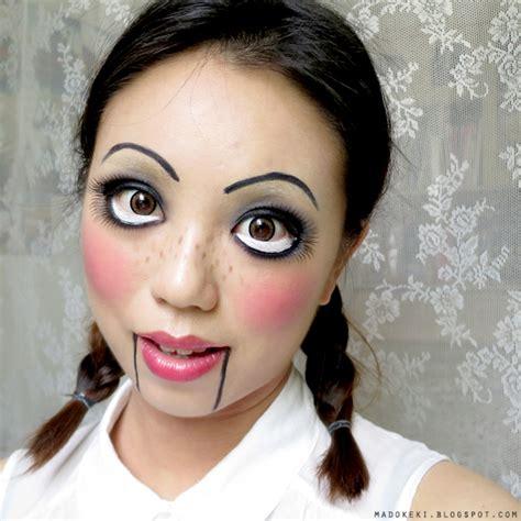 tutorial makeup doll look easy creepy doll halloween makeup tutorials cathy