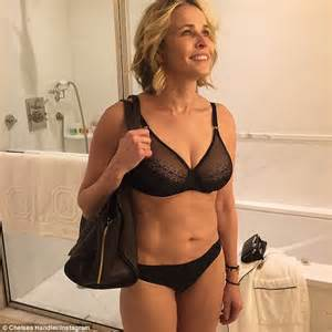 chelsea handler strips down to her bra and underwear on instagram daily mail online