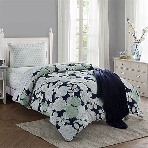 twin navy comforter buy lacey 16 piece twin twin xl comforter set in navy from