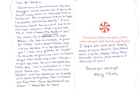 thank you letter to special a special thank you weeks center