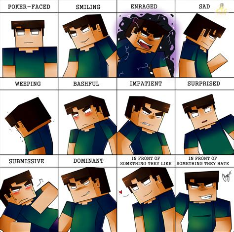 Minecraft Herobrine Memes - herobrine expression meme by cic studios on deviantart