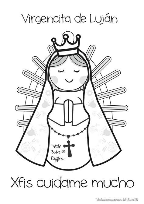 imagenes de la vida de jesus para pintar virgen de luj 225 n virgencitas y santos dibujados 2