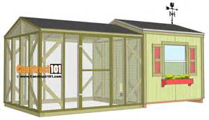 This large chicken coop project is built using the following plans