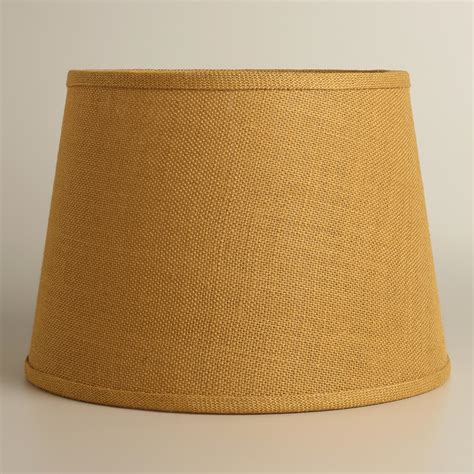 world market l shades harvest gold burlap table l shade world market