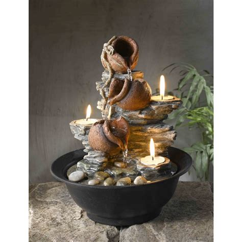 tavolo luci tabletop mini pot fountain with candles