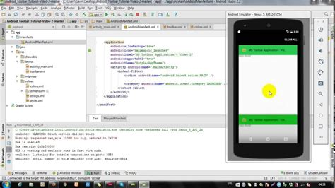 uninstall android studio android studio tutorial 02 how to add title and icon on toolbar