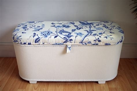 laura ashley ottoman vintage lloyd loom ottoman royal blue summer palace