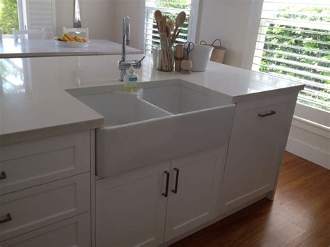 Kitchen Island With Sink This Kitchen Island Has A Butler Sink Shaker Polyurethane Doors And On Kitchen Island Sinks With