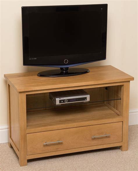 oslo solid oak tv cabinet small modern furniture direct