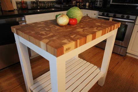 kitchen island with chopping block top butcherblock end grain hickory butcher block top island