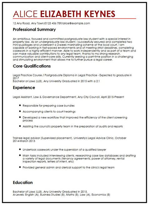 sle cv for law students template cv law cv sle for law students myperfectcv