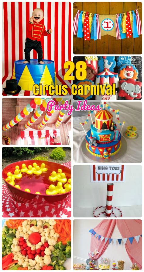 carnival themed food 28 circus carnival themed birthday party ideas for kids
