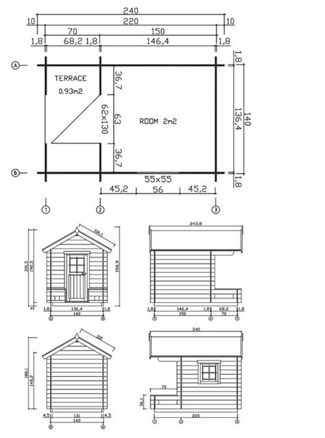 kids house plans children playhouse sky 2 plan playhouses pinterest