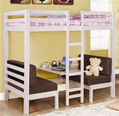 Kid Loft Bed With Desk Bedroom Furniture Loft Beds