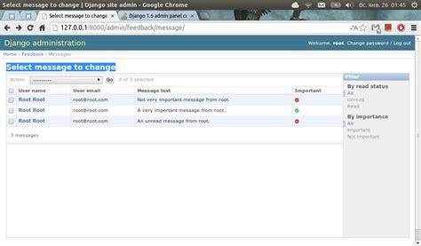 django tutorial modelform python django 1 6 admin panel customization