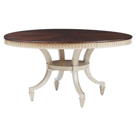 walnut ivory pedestal dining table kathy kuo