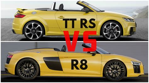 audi r8 and audi tt 2017 audi r8 spyder vs audi tt rs roadster