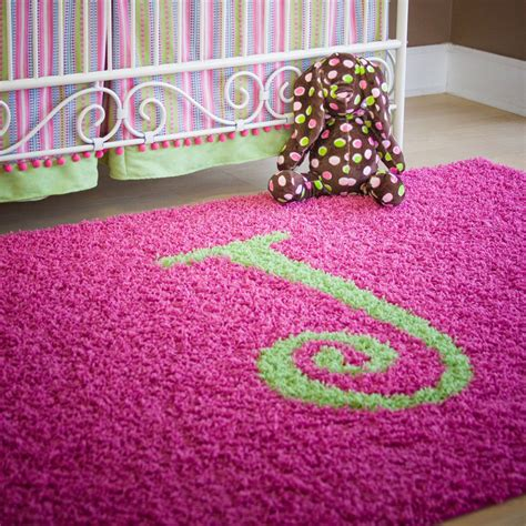 Monogrammed Rugs by Solid Monogram Rectangle Rug Rosenberryrooms