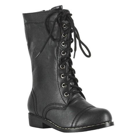 kid s combat boots black target