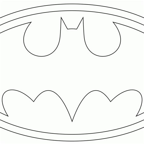 free coloring pages of batman logo template