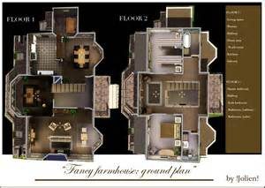 How To Find A Floor Plan Of A House Mod The Sims Fancy Farmhouse No Cc