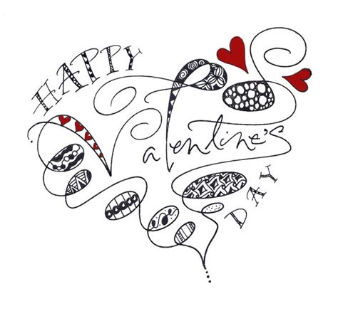 valentines card drawing ideas paperwhitestudio belated s day zentangle
