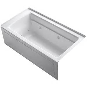 bathtubs home depot kohler archer 5 ft whirlpool tub in white k 1122 la 0