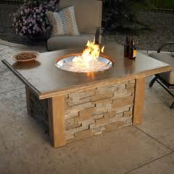 Gas Firepit Tables Outdoor Greatroom Gas Pit Table At Hayneedle
