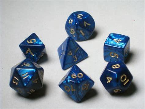 frp set frp product caste rpg dice sets blue