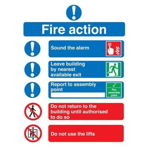 symbol fire action sign 210x148mm fr09951s