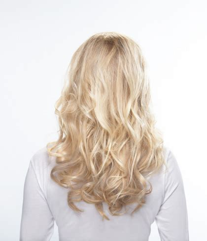 blonde hairstyles back feelsoreal synthetic flare blonde effortless extensions