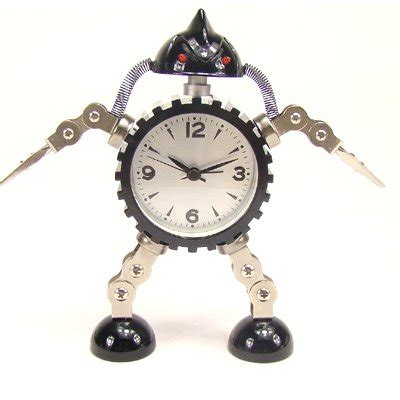 table alarm clock for home decoration quartz clock robot clock gift small size in