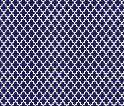 pattern navy blue navy blue moroccan fabric by jenniferstuartdesign on