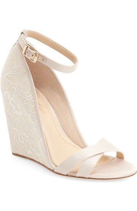 Dress Wedges For Wedding by Best 25 Wedge Wedding Shoes Ideas On Bridal