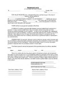 auto promissory note template promissory note indiana car fill printable