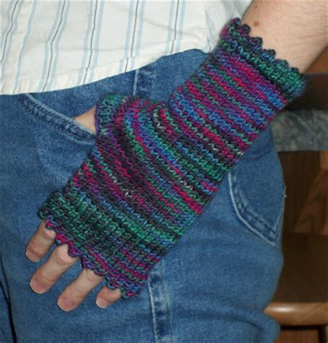 knit picot my sanity picot edged fingerless mitts a free pattern