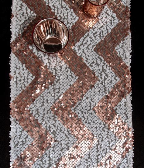 light pink sequin table runner chevron sequin table runner pink white