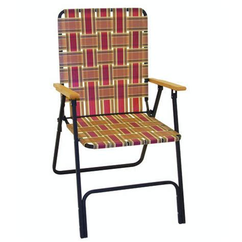 deluxe folding web chair with wood arms at menards 174