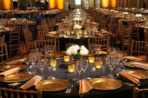 Black And Gold Table Decorations by Black And Gold Table Decor Simple Gettin Hitched