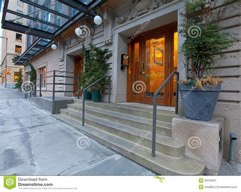 foyer of building entrance door in a modern luxury building stock image