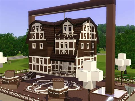 chocolate house mod the sims the hanging chocolate house no cc