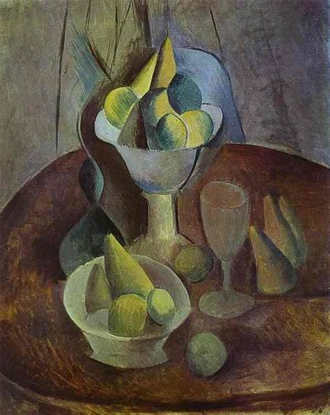 picasso paintings fruit pablo picasso compotier fruit and glass 1909
