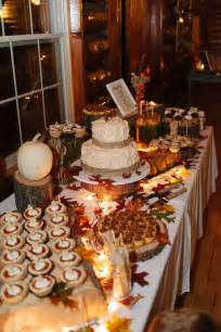 fall table decorations for wedding receptions fall wedding dessert table our fall wedding ideas