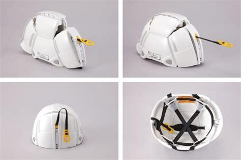 helmet design engineering bloom helmet unfolds in emergencies wins the g mark good
