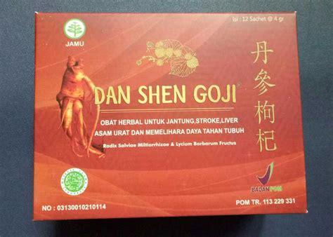 Dan Shen Goji Herbal Jantung Stroke Liver Asam Urat 12 Sachet Dan Shen Goji Obat Herbal Jantung