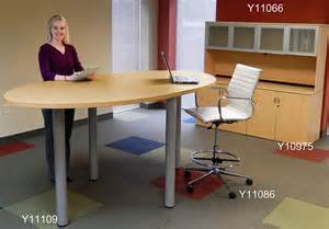 Standing Height Conference Table Oval Standing Height Conference Tables In Maple White Or Mocha 8 Length See Other Sizes