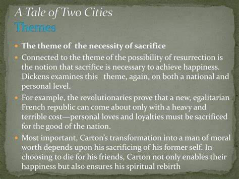 theme exles in a tale of two cities ppt charles dickens notes adapted from the advanced