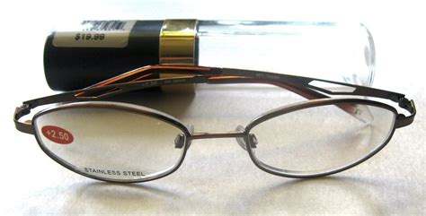 insight edgeglow quot topaz quot s rimless reading glasses